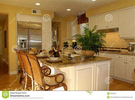 armadietti cucina cucina gialla immagine stock immagine di armadietti