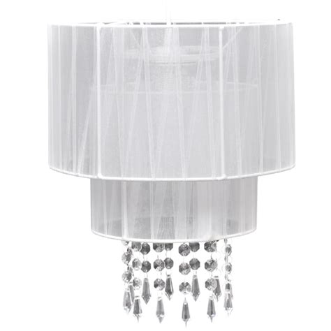 white crystal ceiling vidaxl co uk pendant ceiling l chandelier crystal white