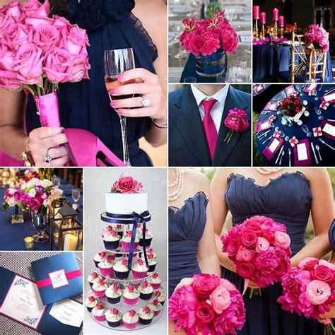 navy and fuchsia wedding colours wedding theme