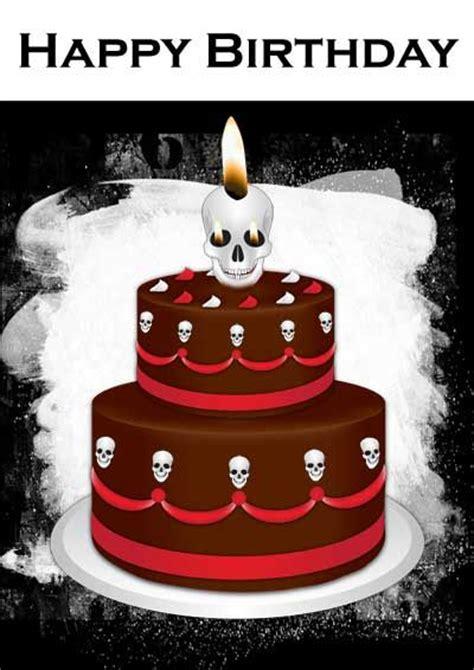 Sle Happy Birthday Wishes Gothic Cake Birthday Card My Free Printable Cards Com