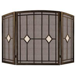 pleasant hearth bronze 3 panel fireplace screen