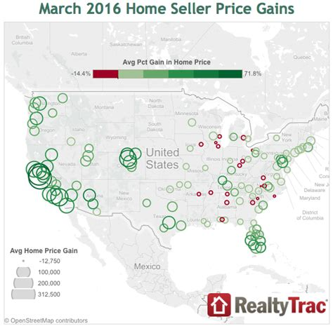 realtytrac top 13 markets for home price gains builder
