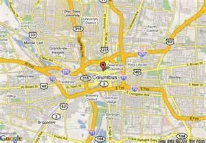 Map Of Columbus Ohio by Similiar Map Of Downtown Columbus Ohio Keywords