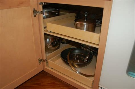 corner cabinet pull out storage pull out shelves blind corner solution louisville by
