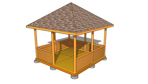Gazebo Building Plans Rectangular Gazebo Plans Myoutdoorplans Free
