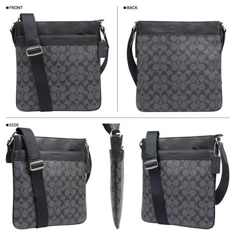 Tas Selempang Coach Original Leather Crossbody Black sugar shop rakuten global market coach coach bag shoulder bags mens f71877 charcoal