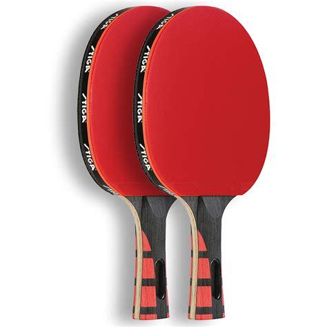 set of 2 stiga evolution premium ping pong paddles