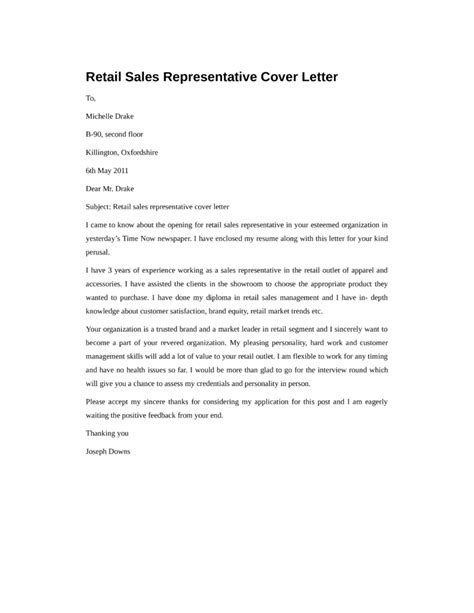 sample of resume for sales representative cover letter cover