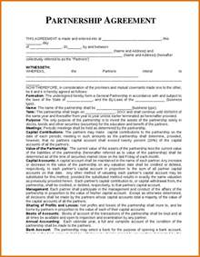 business partnership agreement templatereference letters