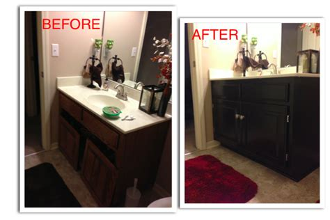 refinishing  guest bathroom vanity diy ista kelli