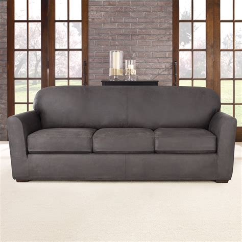 sure fit 3 sofa slipcover sure fit ultimate stretch sofa slipcover reviews wayfair