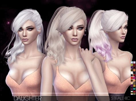 the sims resource stealthic captivated hair sims 4 tsr sims 4 kids hair newhairstylesformen2014 com