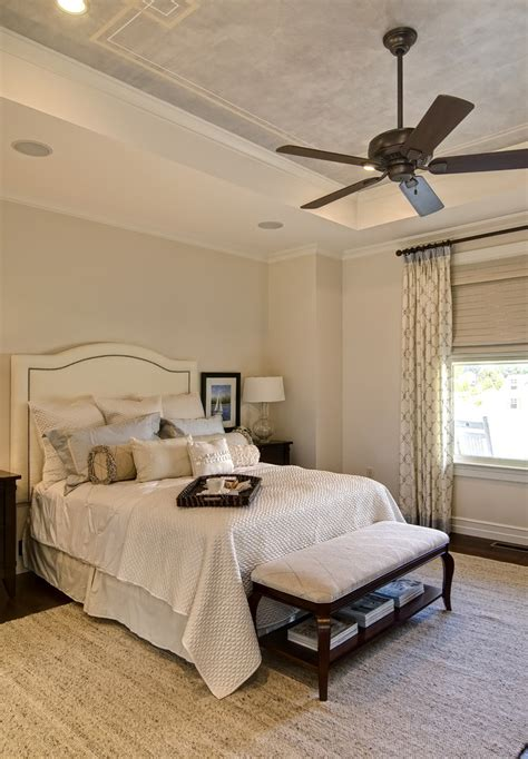 Colonial Molding Chic Kichler Ceiling Fans In Bedroom Traditional With