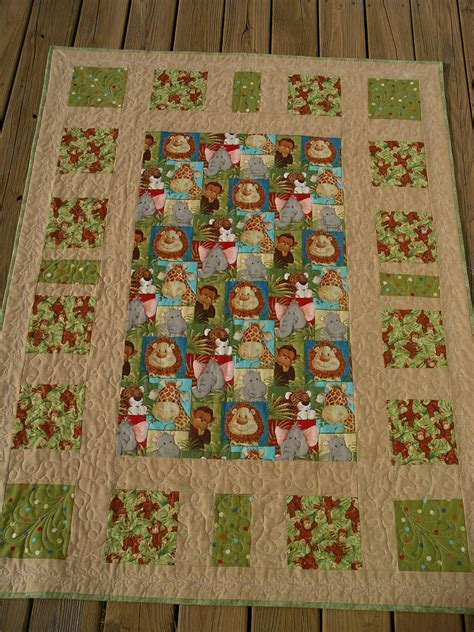 Jungle Quilt by Jungle Animals Baby Quilt At Quilter S Pantry Shop