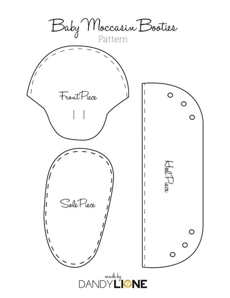 create image pattern online baby moccasin pattern free google search diy and