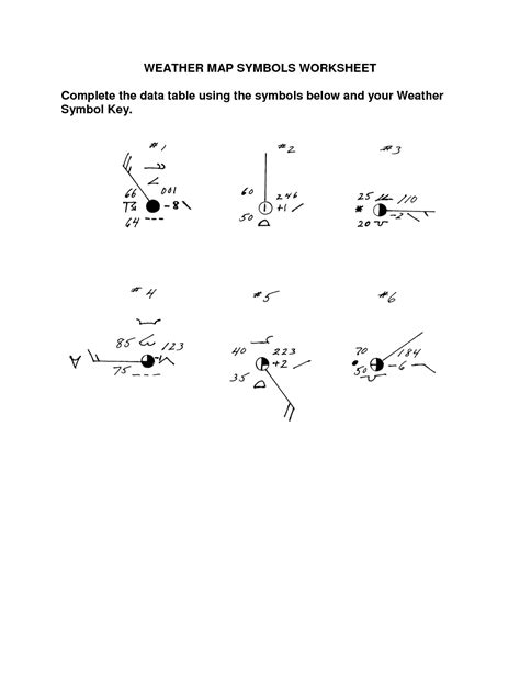 Map Symbols Worksheet by 28 Worksheets On Weather Maps Weather Map Symbols