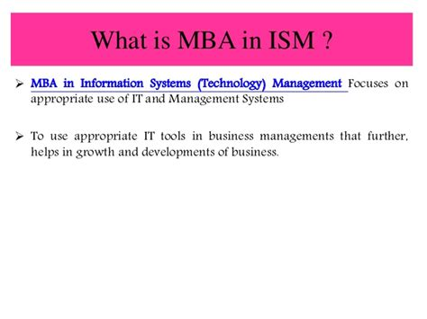 Information Systems Mba by Smu Distance Learning Mba In Information System Management