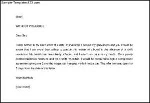 Write legal letter template without prejudice sample templates