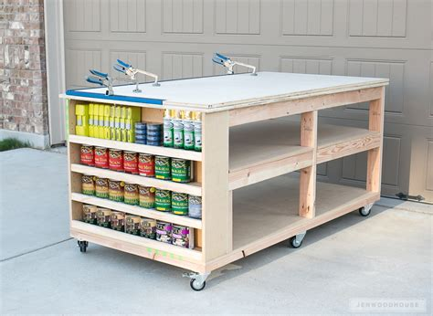 mobile workbench how to build a diy mobile workbench with shelves
