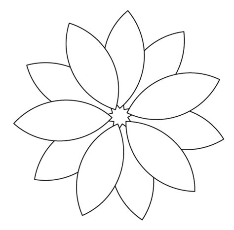 flower drawing templates drawing of a flower new calendar template site