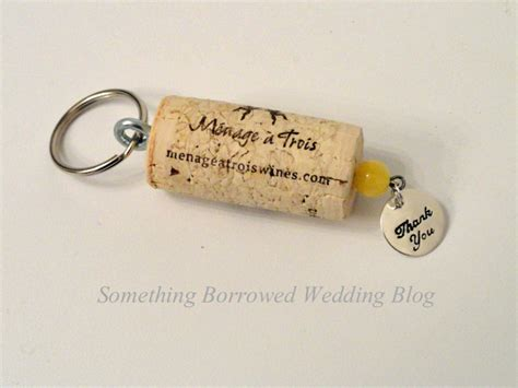 Wedding Favors Keychains by Diy Wedding Favor Wine Cork Keychain Something Borrowed