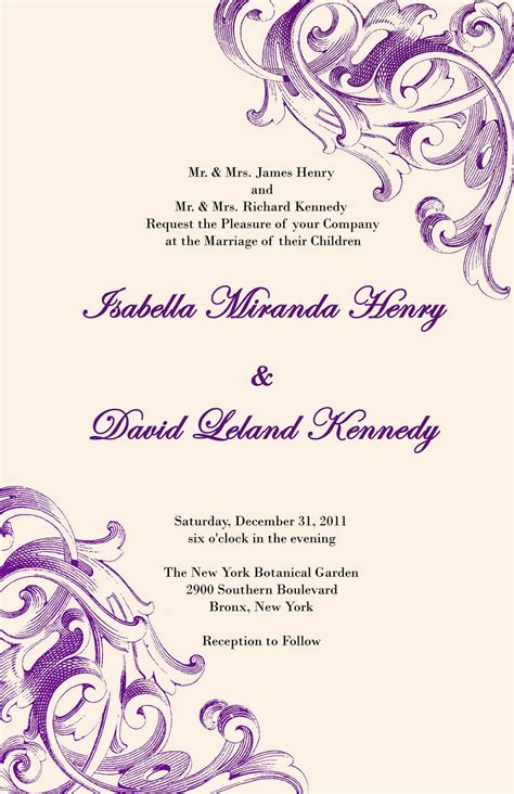 Wedding Invitation Print Designs by Printing