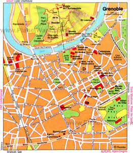 Grenoble France Map by Grenoble Map