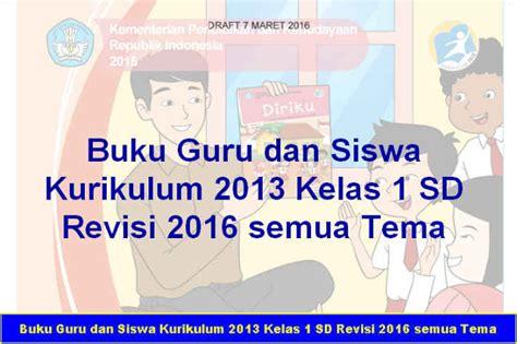 Kurikulum 2013 Rev 2016 Kelas 1 Tema 3 Kegiatananku Dikbud buku guru dan siswa kurikulum 2013 kelas 1 sd revisi 2016