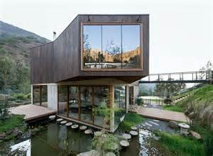 architecture homes casa el maqui in chile is surrounded by flooded gardens that help cool the home inhabitat