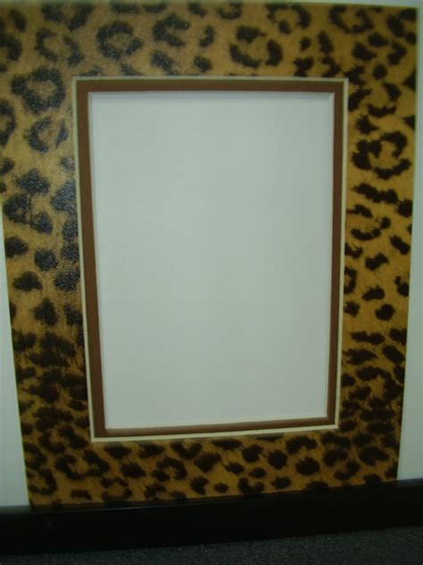 picture frame mat leopard cheetah jaguar animal print with