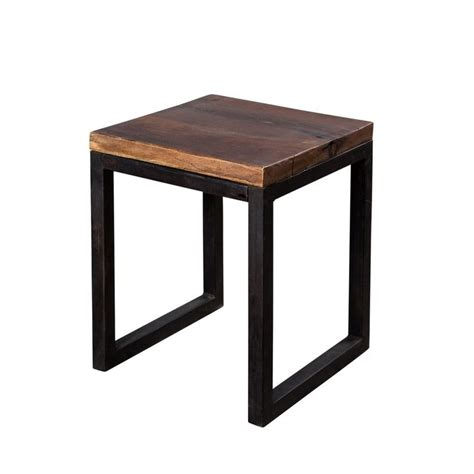 reclaimed wood and metal end table reclaimed wood and metal side table decorating