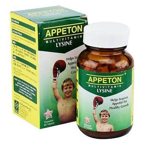 Appeton Lysine 60 Ml appeton multivitamin lysine tablet syrup increase appetite