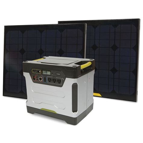 solar power generator 1250 watt silent 2 solar panels