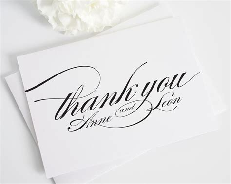 Personalised Wedding Gift Thank You Cards - best 25 personalized thank you cards ideas on pinterest thanks note writing thank