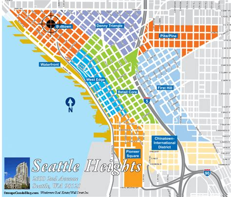 seattle map with landmarks seattle heights seattle condo seattle condos for
