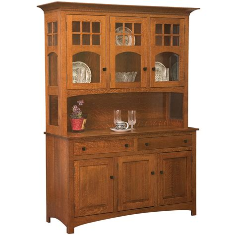 Handmade Hutches - tribecca amish hutch amish dining room furniture