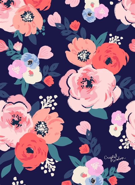 floral pattern on pinterest aurora floral art print by crystal walen society6