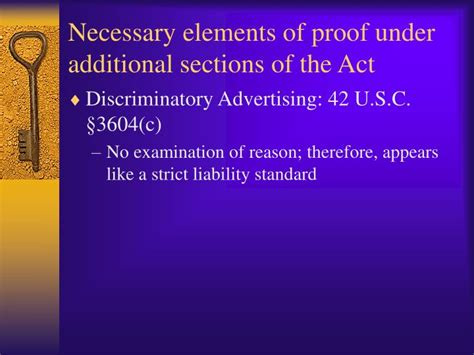 sections on the act ppt the fair housing act rights and remedies powerpoint