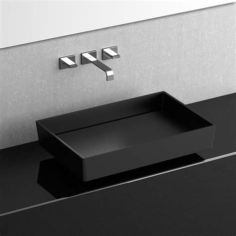 Ws bath collections blade vision vessel bathroom sink in matte black 24 0 x 15 7 modo bath