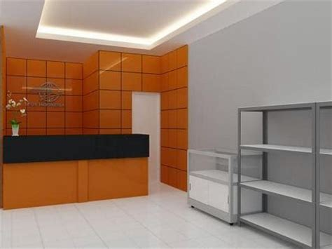 Meja Etalase Pulsa jasa desain 3d max murah desain konsep pos shop etalase