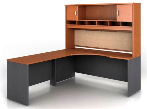 Maple Office Furniture Src002aul Series C Auburn Maple Office Set From Bush