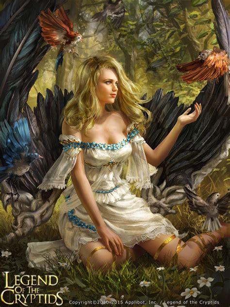 legend   cryptids card fantasy girls beautiful