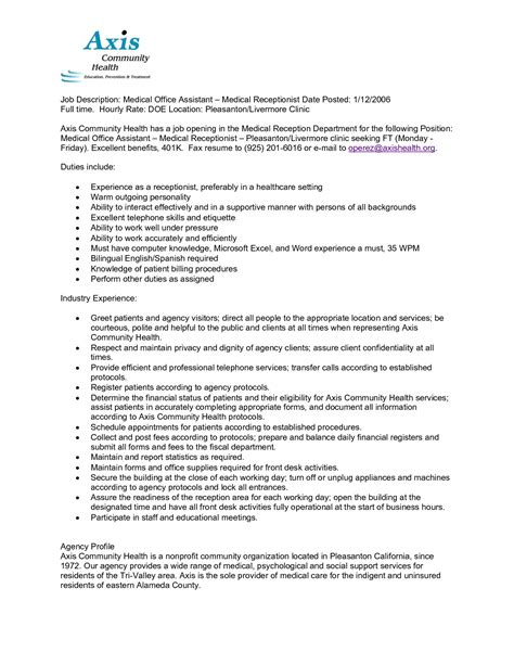 caregiver description resume sle caregiver description for resume resume ideas