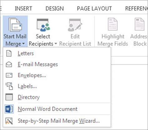 how to print labels with mail merge in microsoft word and excel