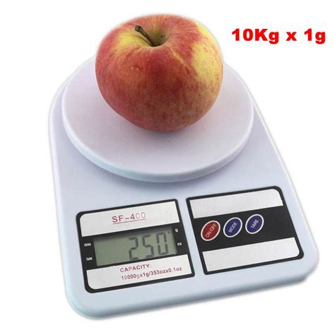 Digital Kitchen Water Fruit Food Diet Scale G Ml Lboz Oz 10kg x 1g digital libra kitchen scales electronic balance 10000g fruit weight scale for diet