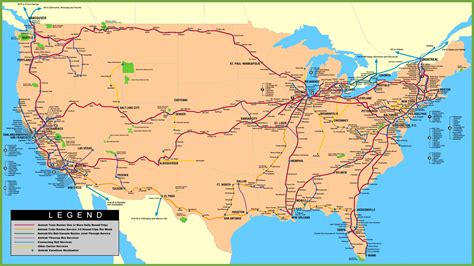 usa railway map
