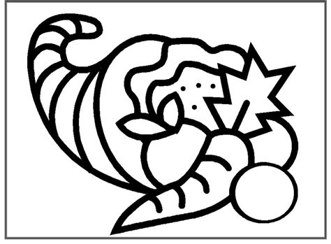 cornucopia coloring pages preschool free coloring pages of empty cornucopia