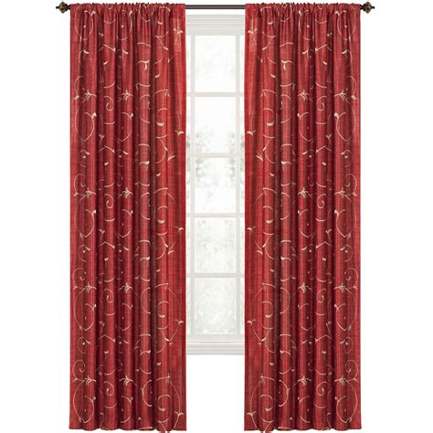 red curtain rod shop style selections 84 in l light filtering red rod