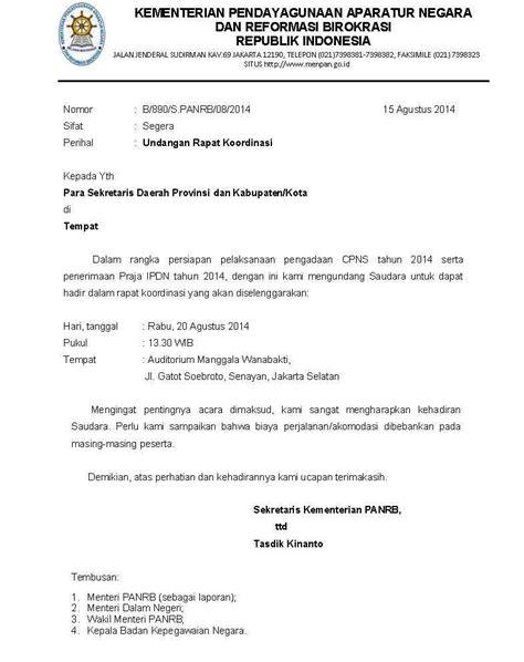 template surat undangan resmi contoh surat undangan resmi rapat koordinasi kotasurat com