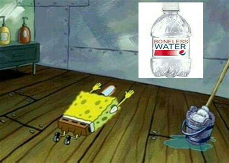 Spongebob Water Meme - spongebob squarepants worshipping boneless water know
